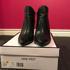 Nine West Black Wedge Bootie